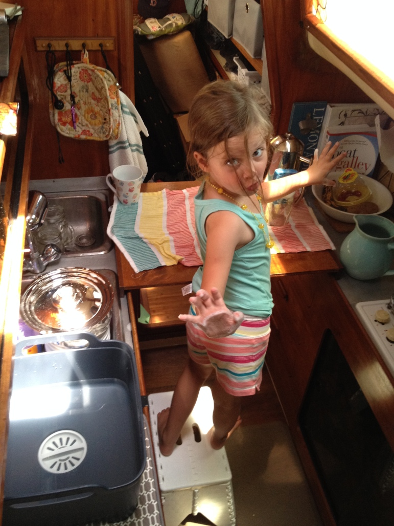 Madi can officially do dishes now. (Not to say they're clean when she's finished, but we're working on it...)